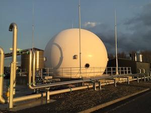 Membrane biogas holder