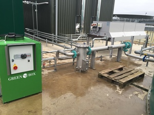 Biogas cooler, Grange Farm, UK