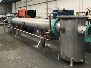 Biogas cooling systems