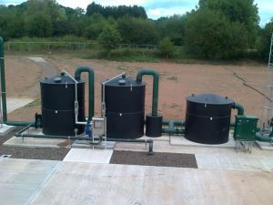 Biogas H2S biological scrubber