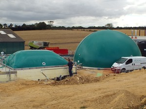 Digester cover, Valley House Farm, UK