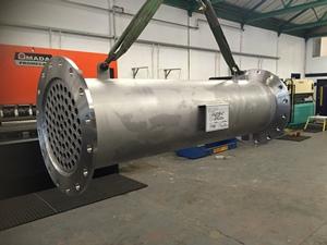 Biogas reheater, Esholt WwTW, UK