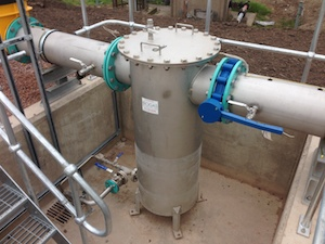 Stainless Steel condensate Pot installed at Rushmoor WwTW