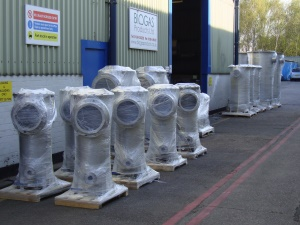 Condensate pots for Wanlip WwTW
