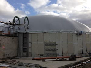Supermix biogas dome Northern Ireland