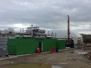 Insulated biogas dome, ALG Biogas, Northern Ireland