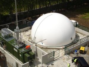 Three membrane biogas holder at Kerry Ingredients