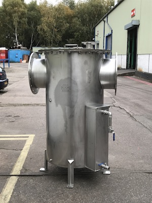 Stainless steel condensate pots UK manufactured for client in Hong Kong