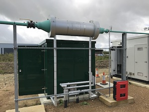 Biomethane heating