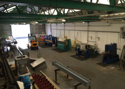 Inside fabrications workshop Brierley Hill UK