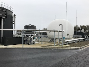 Membrane gas holder, Worksop WwTW, UK