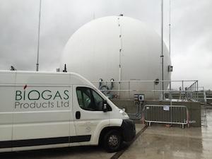 Three quarter membrane gas holder for Worksop WwTW