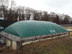 Cranford digester cover installed on site