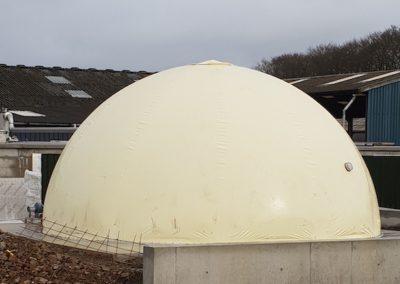 100m3 membrane biogas holder in white