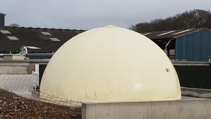 100m3 membrane biogas holder in white