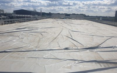 Large rectangular membrane gas holder for Cambridge farm gas to grid project