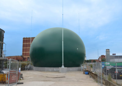 New membrane gas holder installed at Oldham WwTW