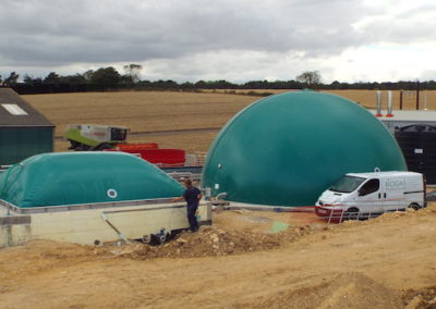 Rectangular membrane digester covers at Valley House Farm
